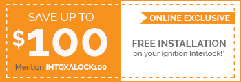 Intoxalock interlock device coupon for installations at 3624 Buck Owens Blvd.