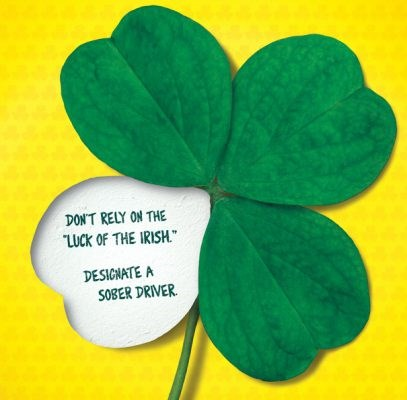Don't rely on just luck this St. Patrick's Day – designate a sober driver